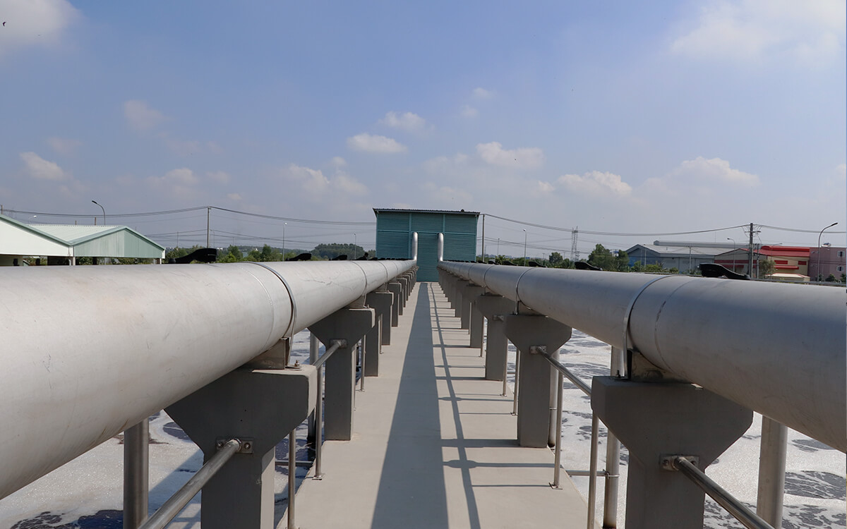 Khu xử lý nước khải Lê Minh Xuân tháng 1-2020