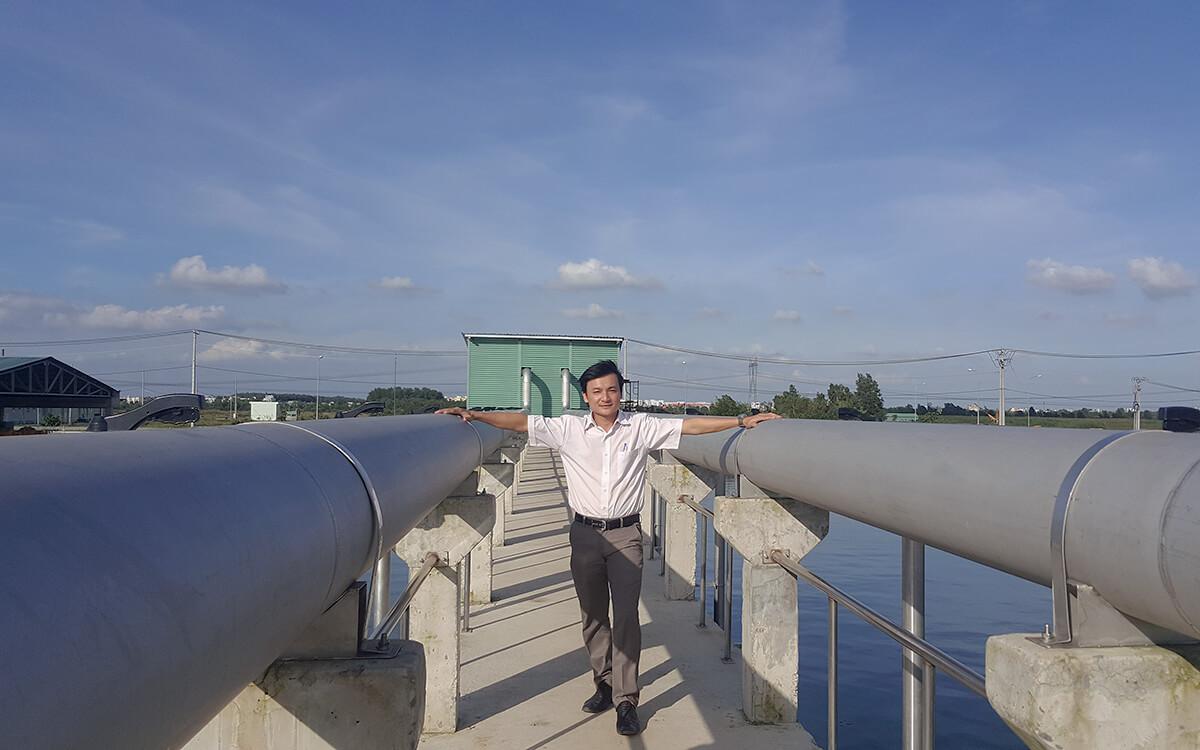 Khu xử lý nước khải Lê Minh Xuân tháng 5-2015